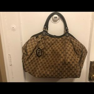 AUTHENTIC Large Gucci Sukey Canvas Tote
